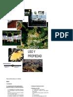 Tierra,Reforma Agraria,Uso y Propiedad