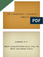 M&a Lessons- Sanjay Bakshi