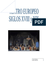 Teatro Europeo Siglo XVIII y XIX
