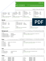 Css Shorthand Cheat Sheet