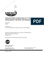 A. Povitsky and D. Ofengeim- Numerical Study of Interaction of a Vortical Density Inhomogeneity with Shock and Expansion Waves