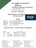 Pew Sheet 22 Jan 2012