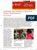 CCTs A pathway to women´s empowerment Molyneux 2009