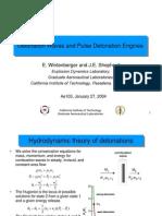 E. Wintenberger and J.E. Shepherd- Detonation Waves and Pulse Detonation Engines