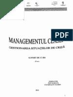 Managementul Clasei - Gest Sit de Criza