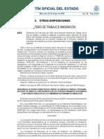 acuerdo plantillas 2009