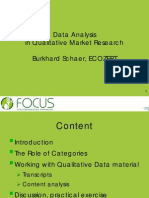 Data Analysis in Qualitative Market Research