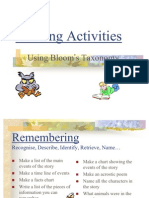 Blooms Reading Activities