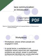 1 - Workplace Communication