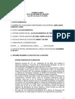 Informe Ley 951 de 2005 Jairo Jesus Camacho L.