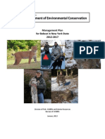 DEC draft bobcat management plan, 2012-2017