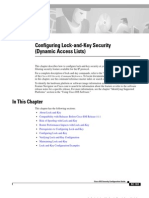 Configuring Lock-And-Key Security (Dynamic Access Lists)