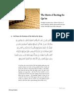 Merits of Reciting the Quran