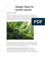 31 Simple Ways to Prevent Cancer