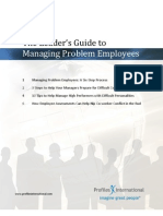 CTA 40 the Leaders Guide to Managing Problem Employees