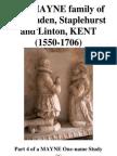 The MAYNE family of Kent (1550-1706)