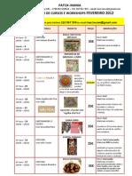 Calendário Fevereiro 2012