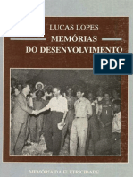 Lucas Lopes, Memórias do desenvolvimento