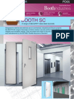 BOOTH-SC Security Doors Datasheet