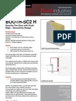 BOOTH-SC2H Flush Edge Security Doors Datasheet