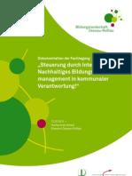 Fachtagung | Steuerung durch Integrierung? Nachhaltiges Bildungsmanagement in kommunaler  Verantwortung!