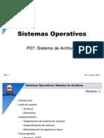 UNAB - SO07 - Sistema de Archivos