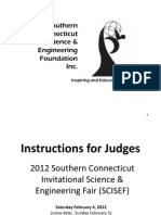 2012 SCISEF Judges Instructions