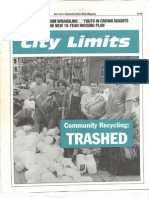 City Limits Magazine, October 1991 Issue
