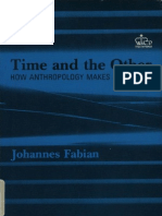 Fabian - Time and the Other - How Anthropology Makes Its Object