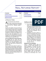 The Real Returns Report 01/30/2012