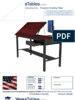 Freedom Drafting Table (FRDT Series) Assembly Instructions