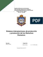 SISTEMA INTERAMERICANO DE PROTECCIÓN Y PROMOCIÓN DE LOS DERECHOS HUMANOS.