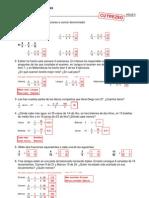 Refuerzo - Fracciones - Ejercicios (II) Soluciones