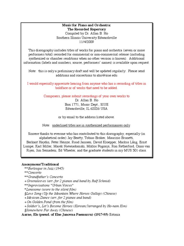 Music for Piano   Orchestra - The Recorded Repertory   Concerto   Orchestras 6f0f1161da4
