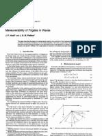 Hooft - Maneuverability of Frigates in Waves