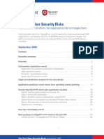 Top Cyber Security Risks September 2009