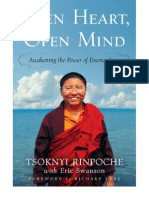 OPEN HEART OPEN MIND by Tsoknyi Rinpoche | About the book, Advance praise