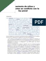 Tratamiento de niños y adolescentes en conflicto con la ley penal