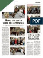 Bendición de SAN ANTON, SALAMANCA en La Gaceta, 23 enero 2012