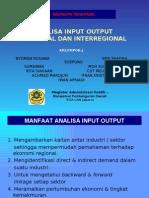 REGIONAL AND INTERREGIONAL INPUT OUTPUT ANALYSIS- Ekonomi Regional
