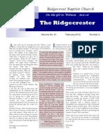 Ridgecrester February