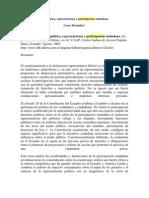 Monufar, Cesar - Antipolitica, democracia y representación (2004) Ecuador Debate