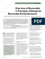 A Clinical Overview of Removable Prostheses 3. Principles of Design for Removable Partial Dentures