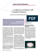 Improving Aesthetics in Patients With Complete Dentures