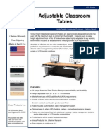 Adjustable Classroom Table (CTL Series) Product Flyer