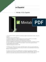 Minitab 16 en Español