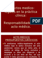 Responsabilidad del acto médico