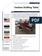 Freedom Drafting Table (FRDT Series) Product Flyer