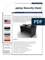Laptop Security Desk (LSD Series) Product Flyer