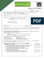 Open Enrollment Application 2012-2013
